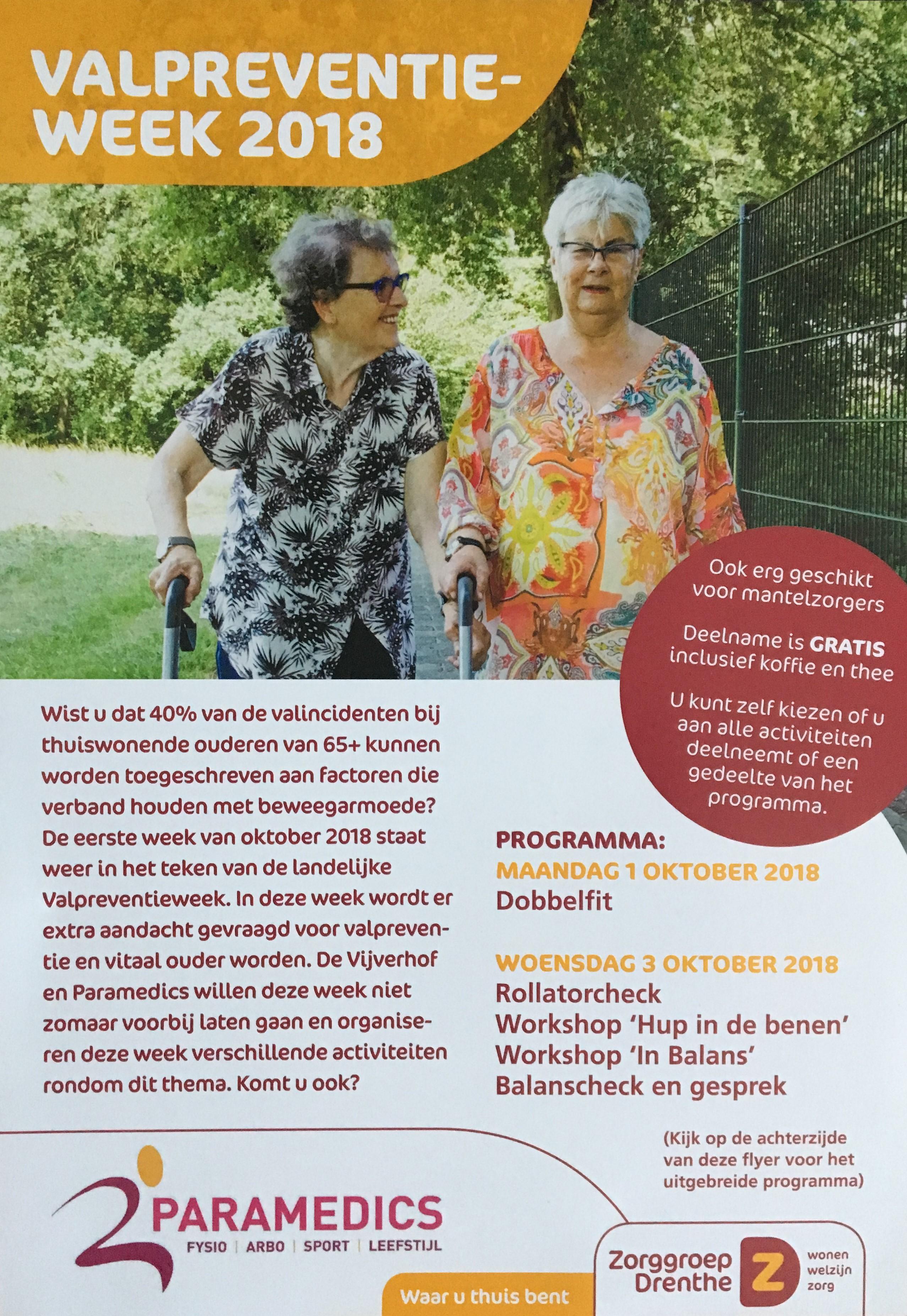 Valpreventieweek in samenwerking met Vijverhof in Assen- oost.