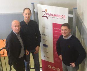 Werkbezoek Guido van Woerkom, voorzitter KNGF, aan Paramedics